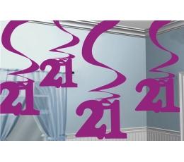 """Dekoracijų rinkinys """"21"""" ( 5vnt. 60 cm.)"""