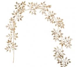 Dekoratyvinė lapų girlianda, auksinė (1,5 m) 1