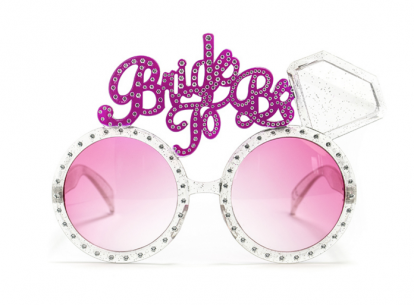 """Dekoratyviniai akiniai """"Bride to be"""""""