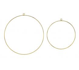 Dekoratyviniai lankai, auksiniai (2 vnt.)
