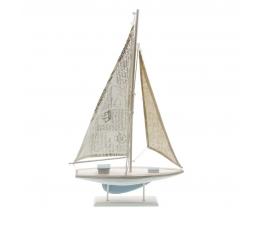 Dekoratyvinis burlaivis, medinis (56x35 cm)