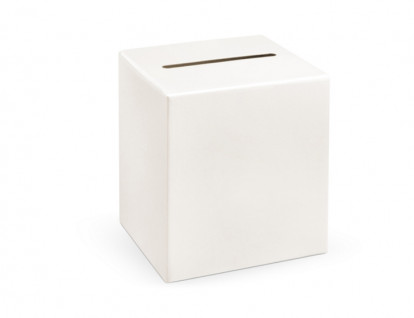 Dėžė palinkėjimams/pinigams, balta