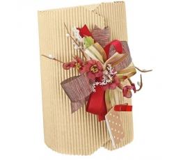 Dėžutė - gofruota, šv.ruda (95*65*40 mm.)