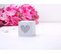 "Dėžutė ""Graviruota širdelė"" (10 vnt.)"