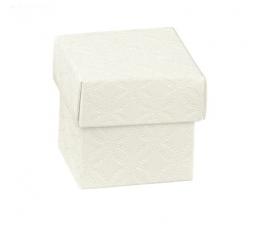 Dėžutė - kvadratinė, balta (50x50x50 mm.)