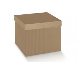 Dėžutė - kvadratinė, gofruota (345x345x200 mm.)