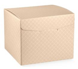Dėžutė - kvadratinė, kreminė (220x220x230 mm.)