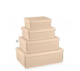Dėžutė - Mat. Nudo/stačiakampė/kreminė (1 vnt./340x250x120 mm.)