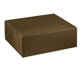 Dėžutė - Pelle Marr stačiakampė / ruda (1 vnt./400*320*80 mm.)