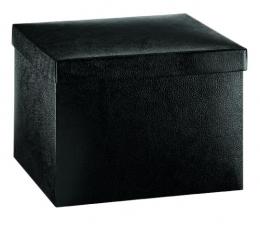Dėžutė - Pelle Nero/kvadratinė/juoda (300x300x240 mm.)