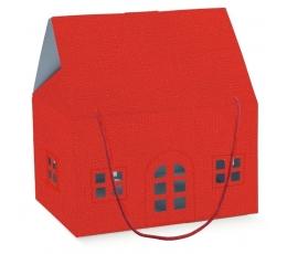 """Dėžutė """"Raudonos spalvos namelis"""" (330x250x190 mm.)"""