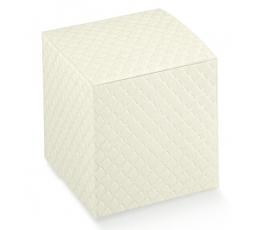 Dėžutė - stačiakampė, balta (130x130x160 mm.)