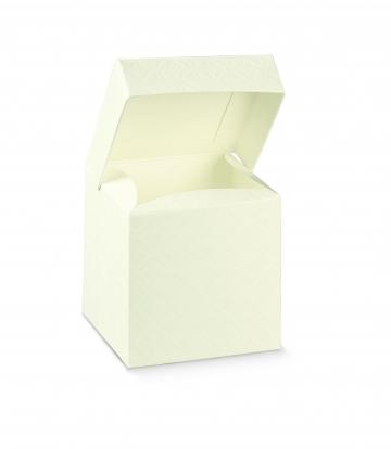 Dėžutė, stačiakampė balta (10x10x15 cm)