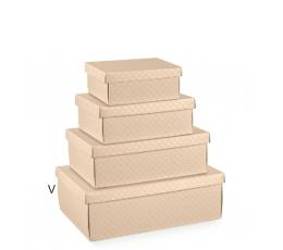 Dėžutė - stačiakampė, kreminė (380x260x130 mm.)