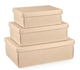Dėžutė - stačiakampė, kreminė (455x320x150 mm)