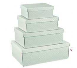 Dėžutė - stačiakampė pilka (340x250x120 mm.)