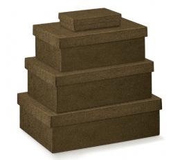 Dėžutė - stačiakampė, ruda (300x200x100 mm.)