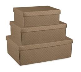 Dėžutė - stačiakampė, ruda (300x230x110 mm.)