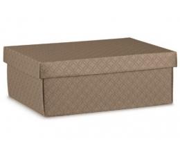 Dėžutė - stačiakampė, ruda (380x260x130 mm.)