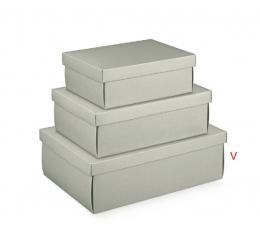 Dėžutė - stačiakampė, šv. pilka (455x320x150 mm)
