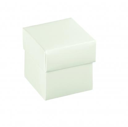 Dėžutė su dangteliu, balta (5x5x5 cm)