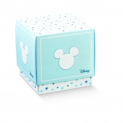 """Dėžutė su dangteliu """"Peliukas Mikis"""", žydra (7x7x7 cm)"""