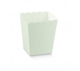 Dėžutė užkandžiams, balta (7x7x11 cm)