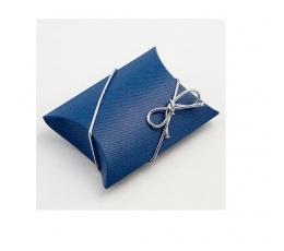 Dėžutė - vokelis, mėlynos spalvos (260*95*32 mm.)