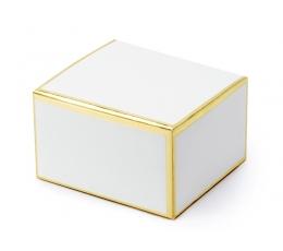 Dėžutės / baltos su auksiniu krašteliu (10 vnt.)