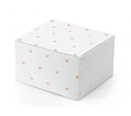 """Dėžutės """"Rose gold širdelės"""" (10 vnt.)"""