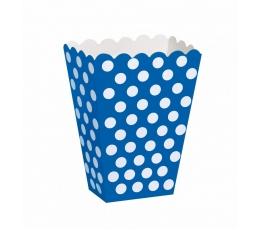 Dėžutės užkandžiams, taškuotai mėlynos (8 vnt.)
