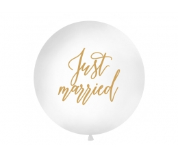 "Didelis balionas ""Just Married"", baltas (1 m)"