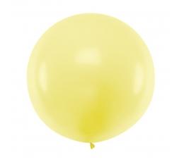 Didelis balionas, pastelinis gelsvas  (1 m)