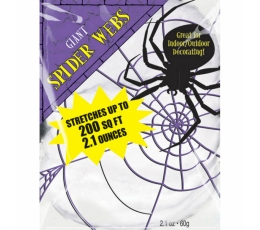 Didelis voratinklis su voriukais, baltas (60 g)