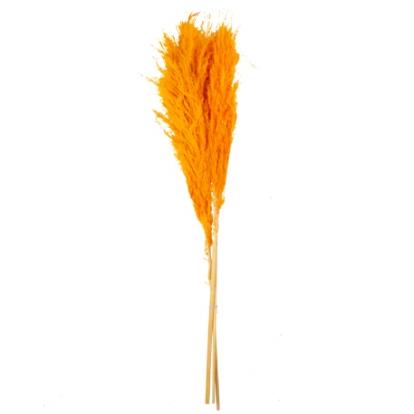 Dirbtinių smilgų puokštelė, oranžinė (3 vnt./80 cm)