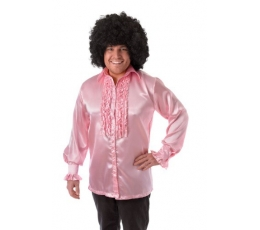 Disco stiliaus marškiniai / rožiniai (168 -190 cm)