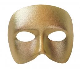 """Domino kaukė """"Casanova"""", auksinė"""