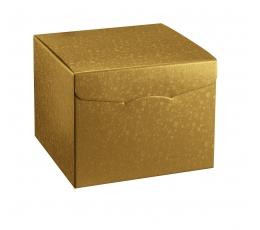 Dovanų dėžutė, auksinė (20X20X18 cm)