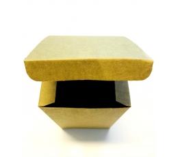 Dovanų dėžutė, kraftinė stačiakampė (10x10x16 cm)