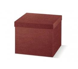 Dovanų dėžutė su dangčiu, bordo spalvos (29X29X24 cm)