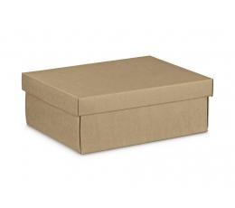 Dovanų dėžutė su dangčiu, kraftinė (34X25X12 cm)