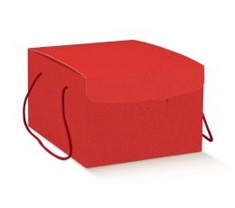 Dovanų dėžutė su virvutėmis, raudona (29X35X19 cm)