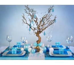 Dovanų dėžutės, taškuotai žydros (10 vnt.)