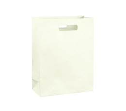 Dovanų krepšelis, kreminis (27x11x35 cm)