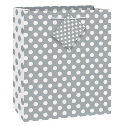 "Dovanų maišelis ""Burbuliukai/sidabrinis"" (1vnt./33x26.5x14 cm.)"