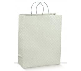Dovanų maišelis / pilki ornamentai (1 vnt./350x130x430 mm.)