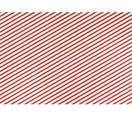 Dovanų popierius, raudonai-baltai dryžuotas (70x200 cm)
