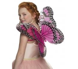 Drugelio sparnai / rožiniai (40 cm. x 40 cm.)