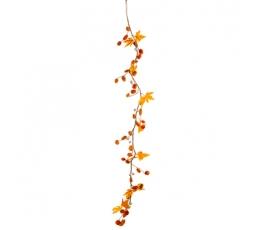 """Džiovintų augalų girlianda """"Oranžinis ruduo"""" (1,2 m)"""