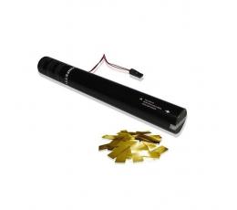 Elektrinė konfeti patranka/ auksinė (40cm.)